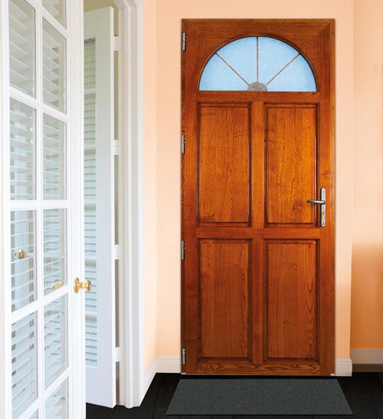Portes d 39 entr e fen tres portes fen tres pvc ou alu for Porte d entree bois alu